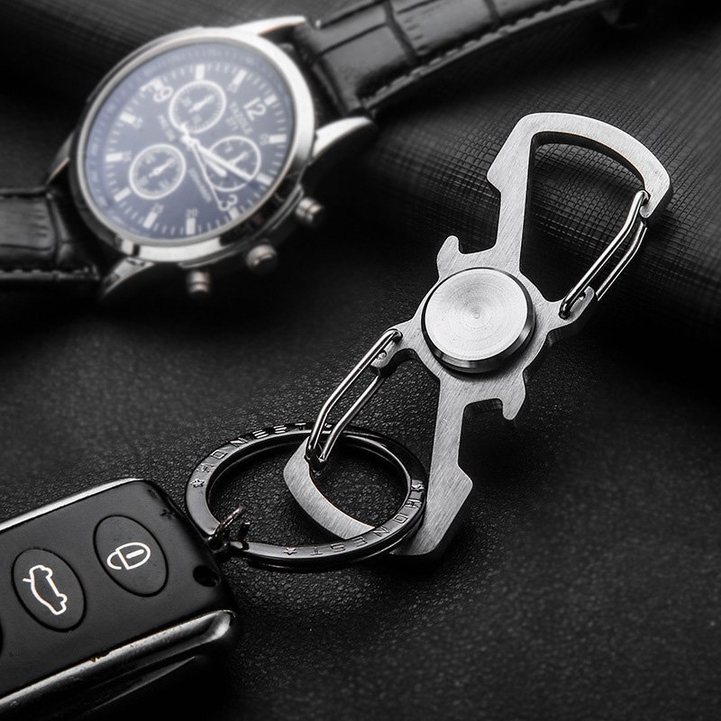 spinner opener carabiner keychain petagadget. Black Bedroom Furniture Sets. Home Design Ideas