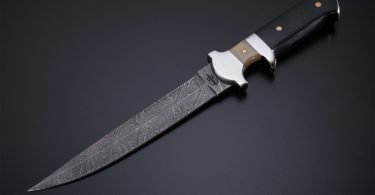 BucknBear Custom Handmade Damascus Fixed Blade Sub-hilt Hunting Knife