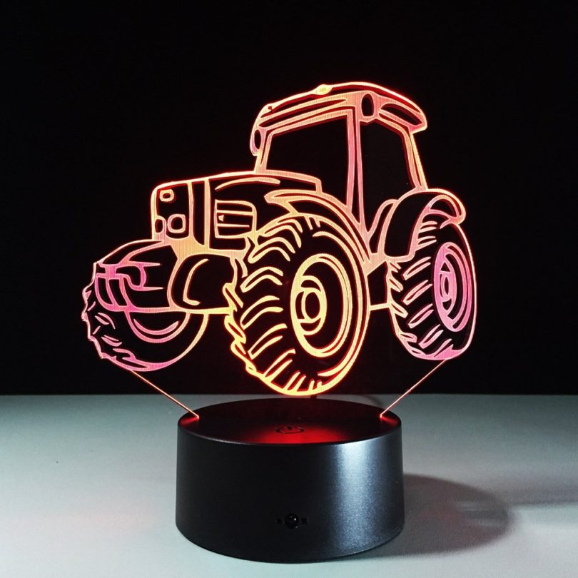 ircle Tractor Colorful Gradients 3D Optical Illusion Lamp