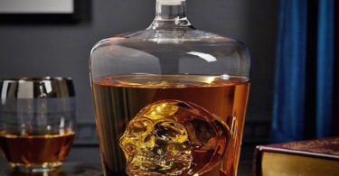 Floating Phantom Skull Glass Decanter and Shot Glass Set