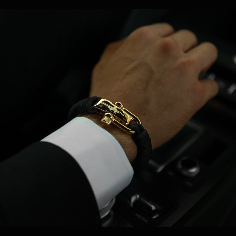 KCUF Luxury Paracord Bracelet 24K Gold
