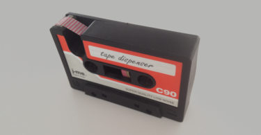 Cassette Tape Holder & Tape Dispenser