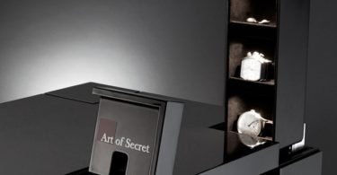 Biometric Fingerprint Secret Compartment Nightstand