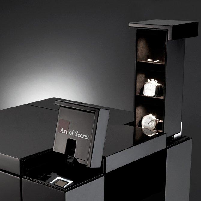 Biometric Fingerprint Secret Compartment Nightstand