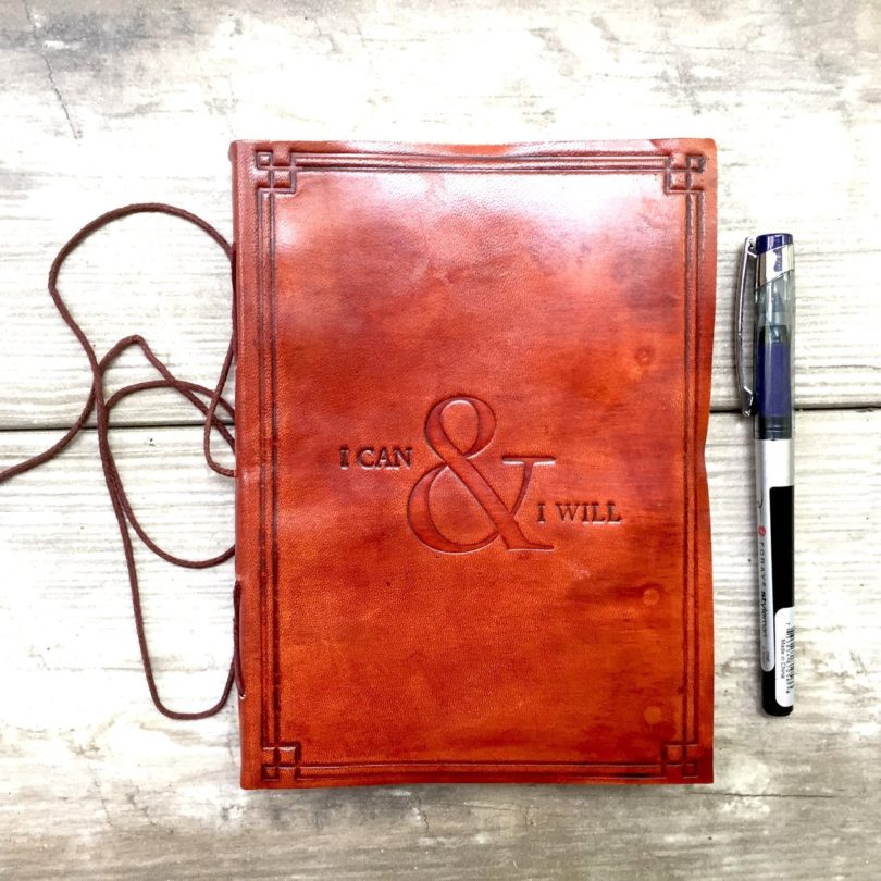 I Can & I Will Handmade Leather Journal