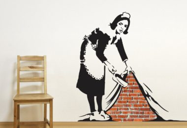 Banksy Sweep It Under Wall Decals
