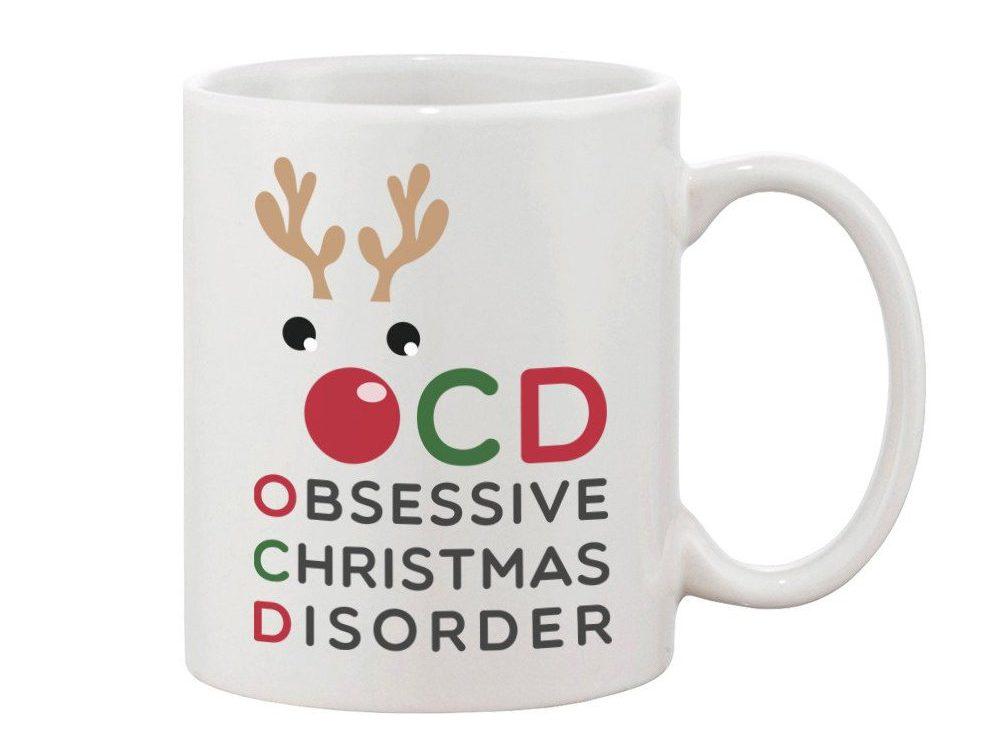 OCD Obsessive Christmas Disorder Mug