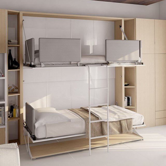 Pensiero T Twin Wall Bunk Bed & Table