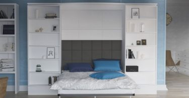 Vetrino White Queen Wall Bed