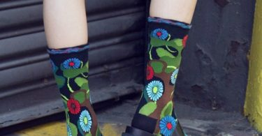 Black Flower Camo Sock by Ozone Design