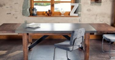 Extendable Vega Concrete Dining Table