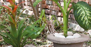 Cement Hat Flower Vase