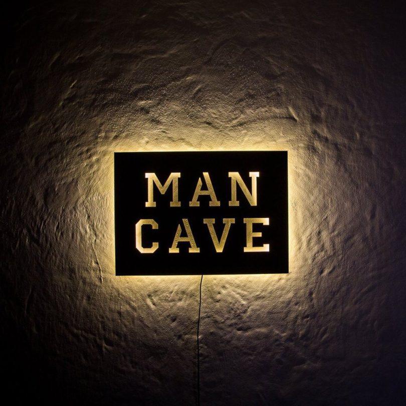 Man Cave Light Up Signs : Man cave led sign petagadget