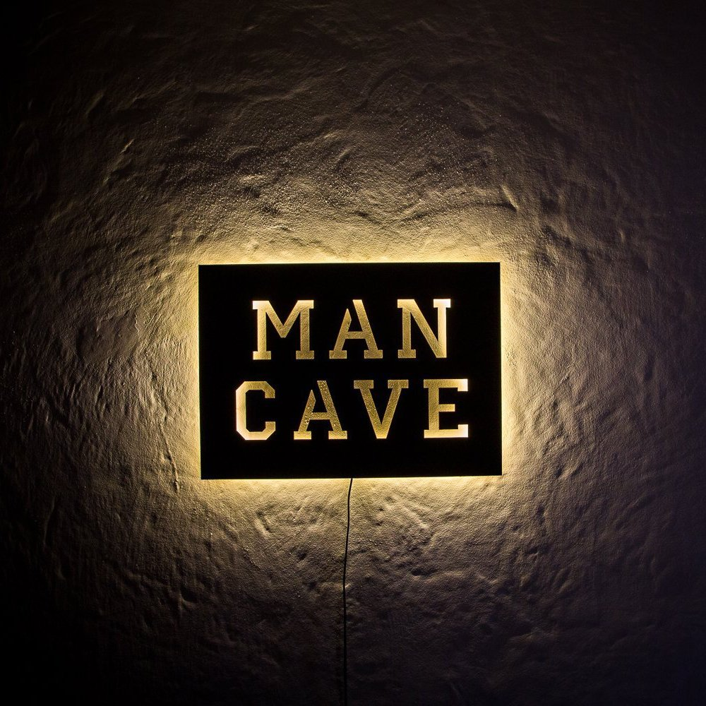 Man Cave Sign With Lights : Man cave led sign petagadget