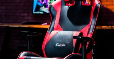 Black & Red Premium Gaming Chair by Clutch Chairz
