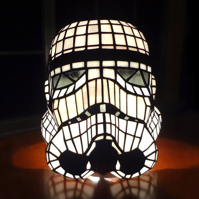 Stained Glass Stormtrooper Helmet Table Lamp