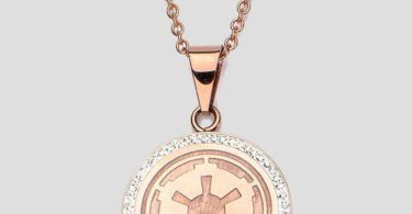 Star Wars Galactic Empire Symbol Rose Gold Plated Necklace