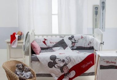 Disney Gray Mickey Crib Bedding Set