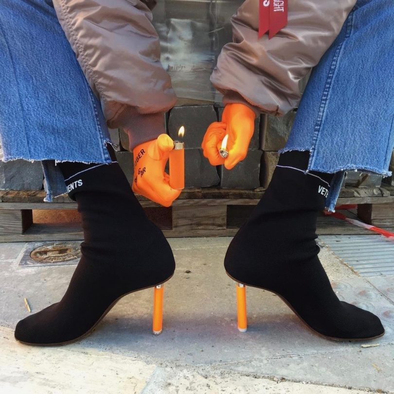 Vetements Black Lighter Sock Boots