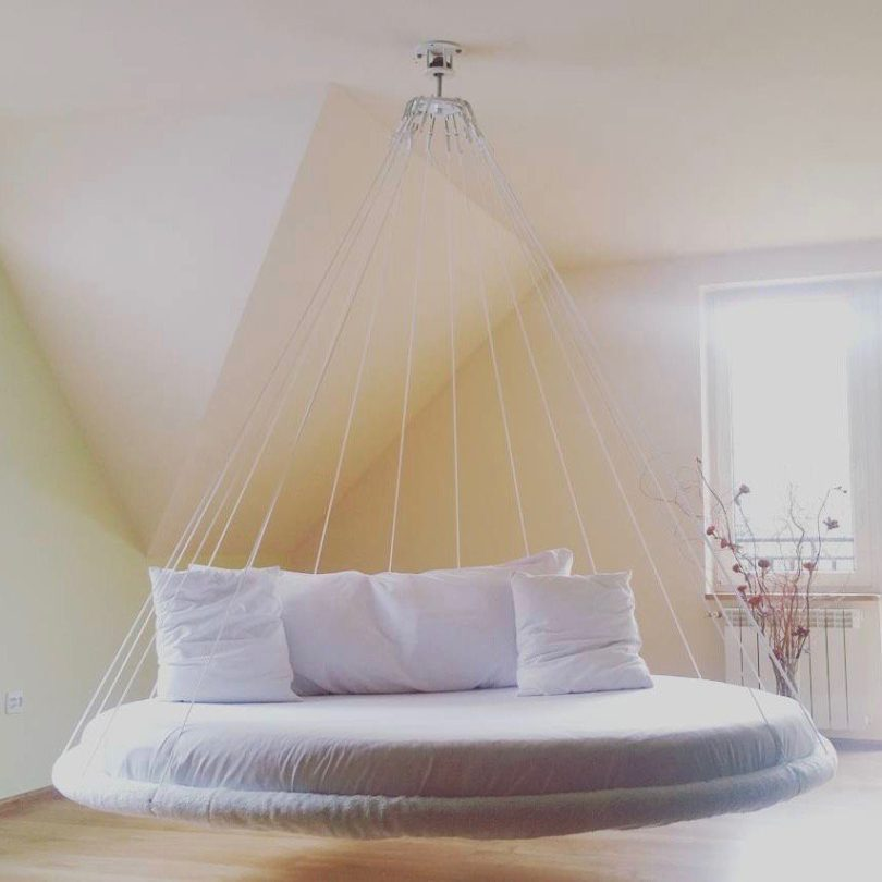 round suspended bed