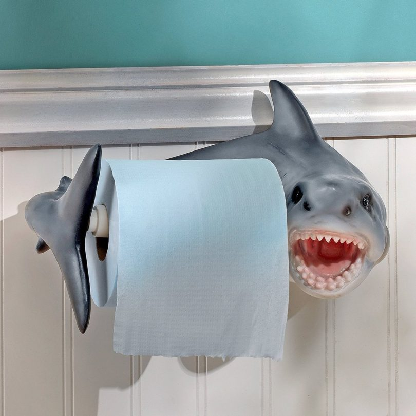 Shark Attack Toilet Paper Holder 187 Petagadget