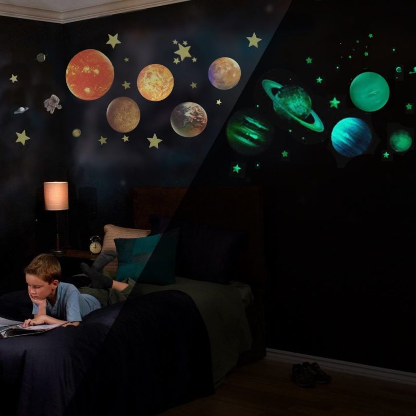 Glow in the Dark Solar System War Decals » Petagadget