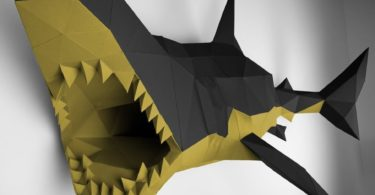 Black & Gold XL Shark Papertrophy