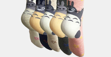 Oureamod Cartoon Animal Womens Girls Cotton Crew Socks
