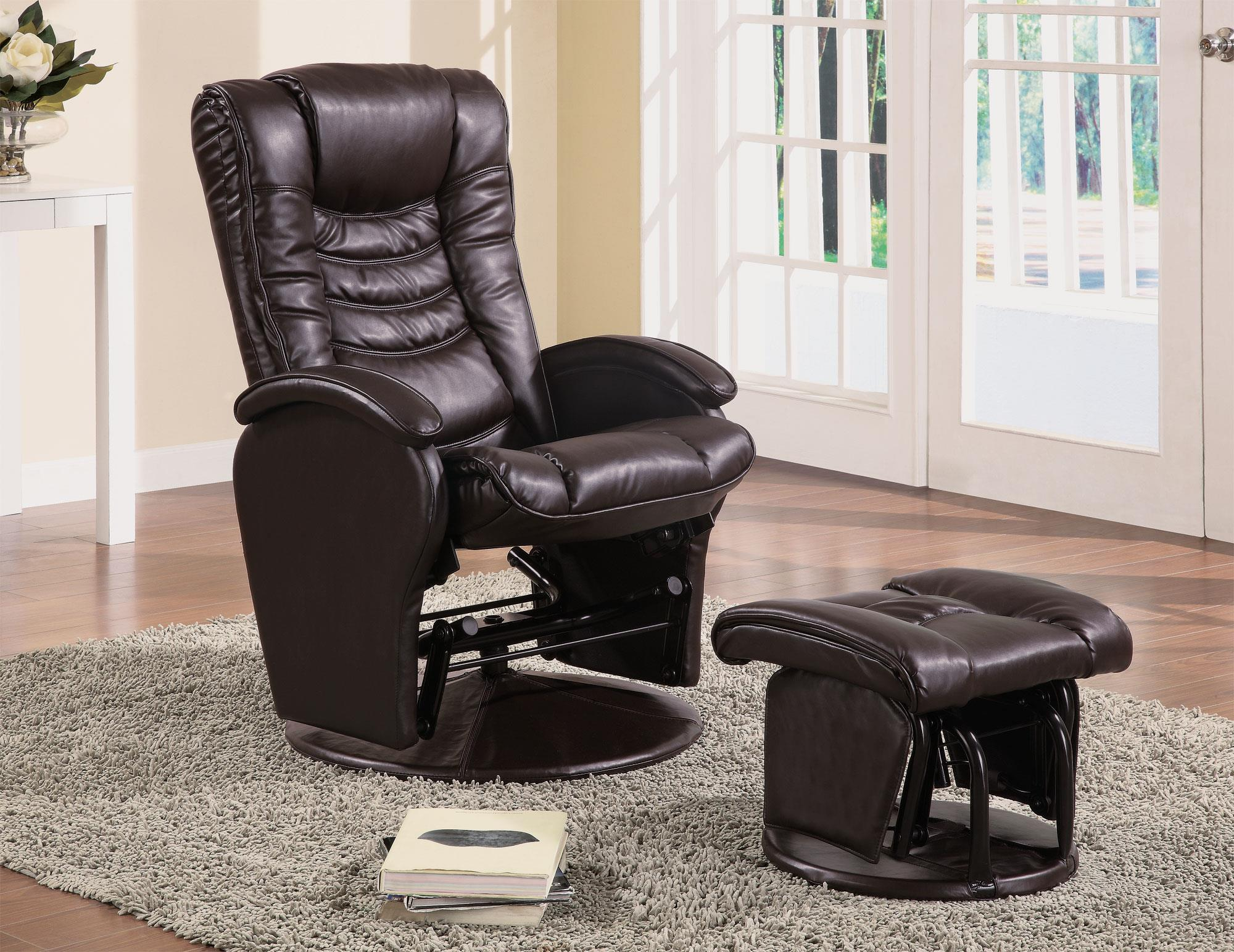 Brown Deluxe Glider with Ottoman