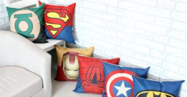 SuperHero Cotton Linen Throw Pillow Case