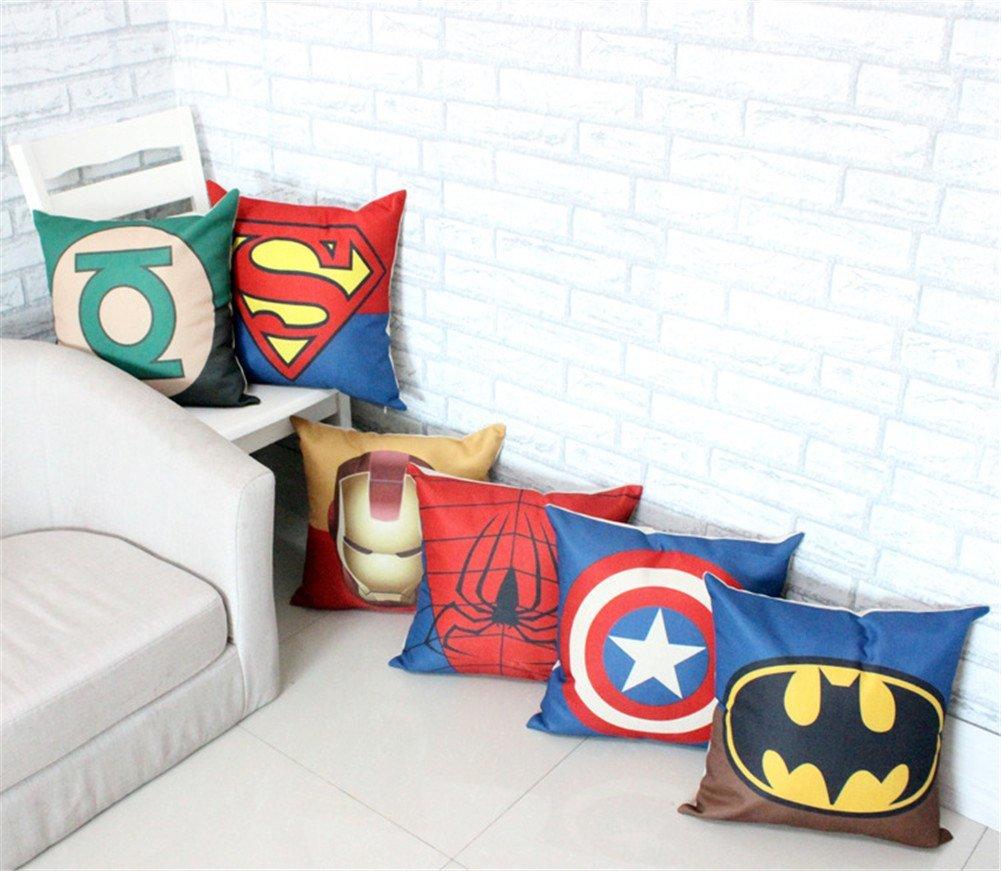 SuperHero Cotton Linen Throw Pillow Case