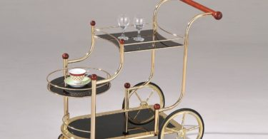 ACME Furniture Acme 98006 Lacy Glass Serving Cart