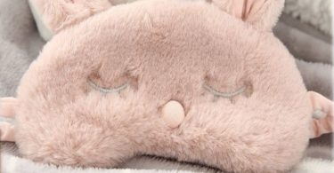 Ayygiftideas New Fashion Plush Rabbit Eye Mask