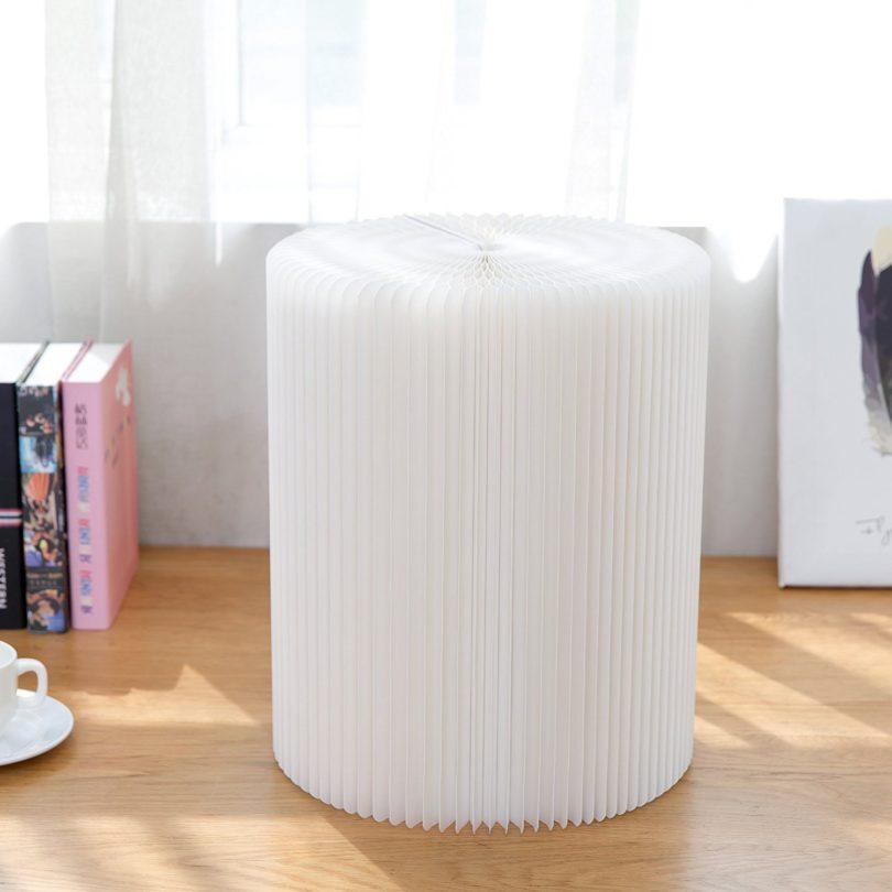 White Flexible Paper Folding Chair
