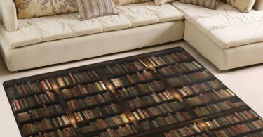 ALAZA Library Bookshelf Book Lover Rug
