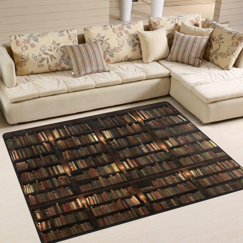 ALAZA Library Bookshelf Book Lover Rug