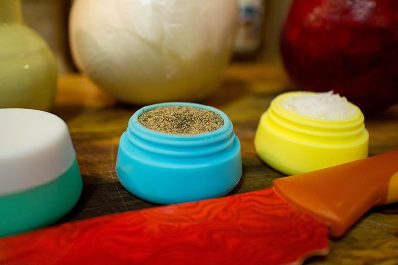 Soft and Durable Silicone Cosmetic Containers with Sealed Lids