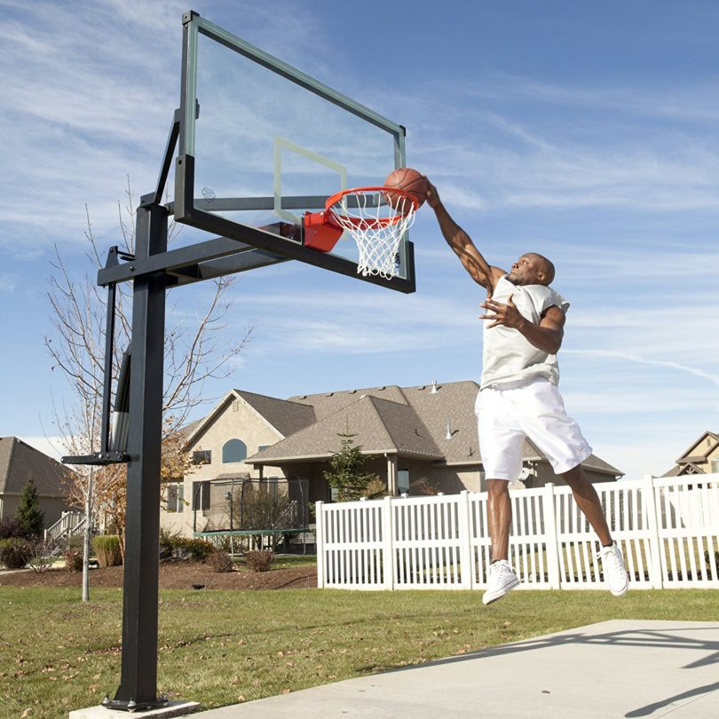 Lifetime Mammoth Height Adjustable In Ground Basketball System