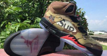 "Men's Jordan Air 5 Retro Supreme ""Supreme"" Basketball Shoes"
