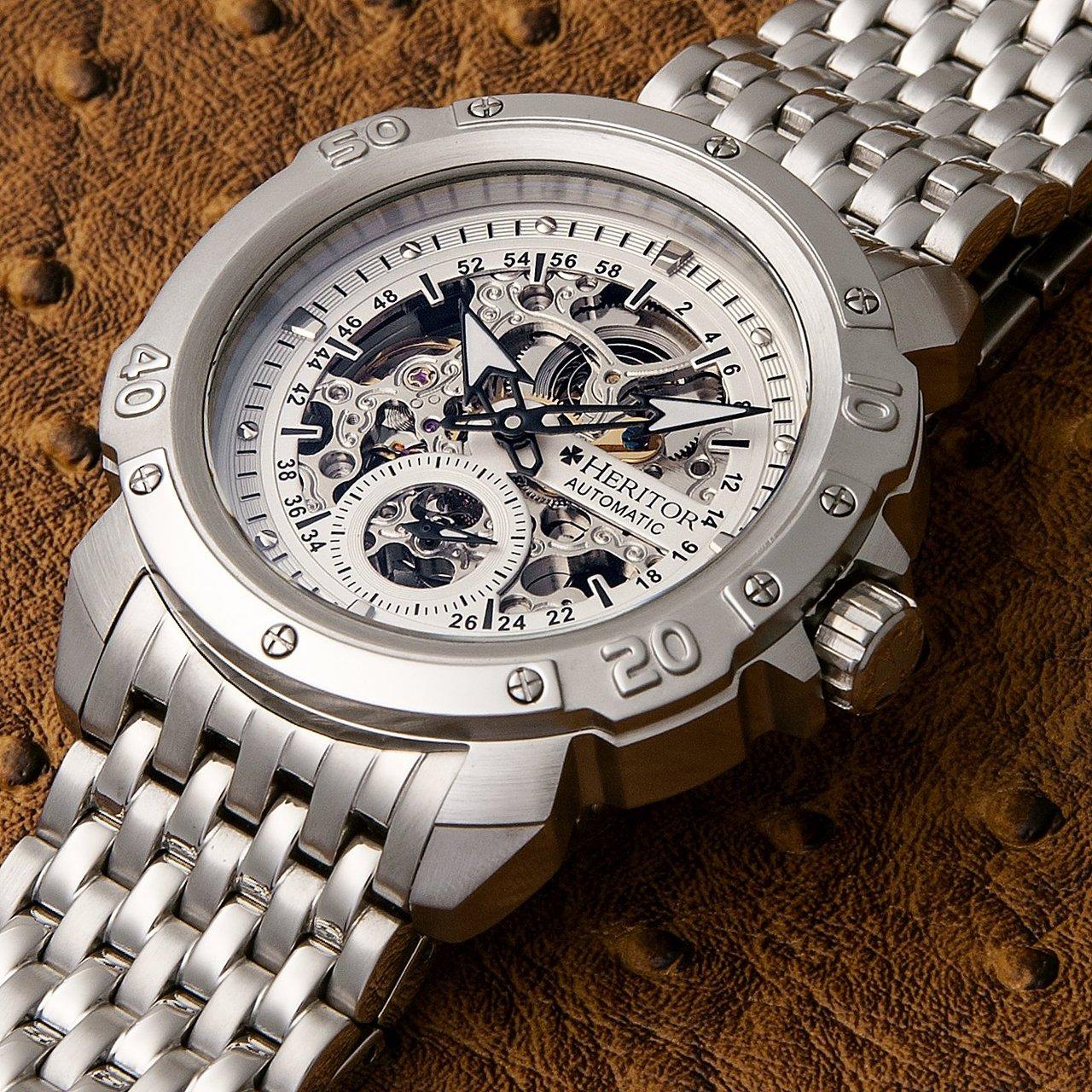Heritor Automatic Conrad Skeleton Dial Bracelet Watch