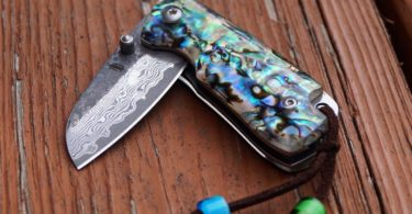 Mini Abalone Folding Knife