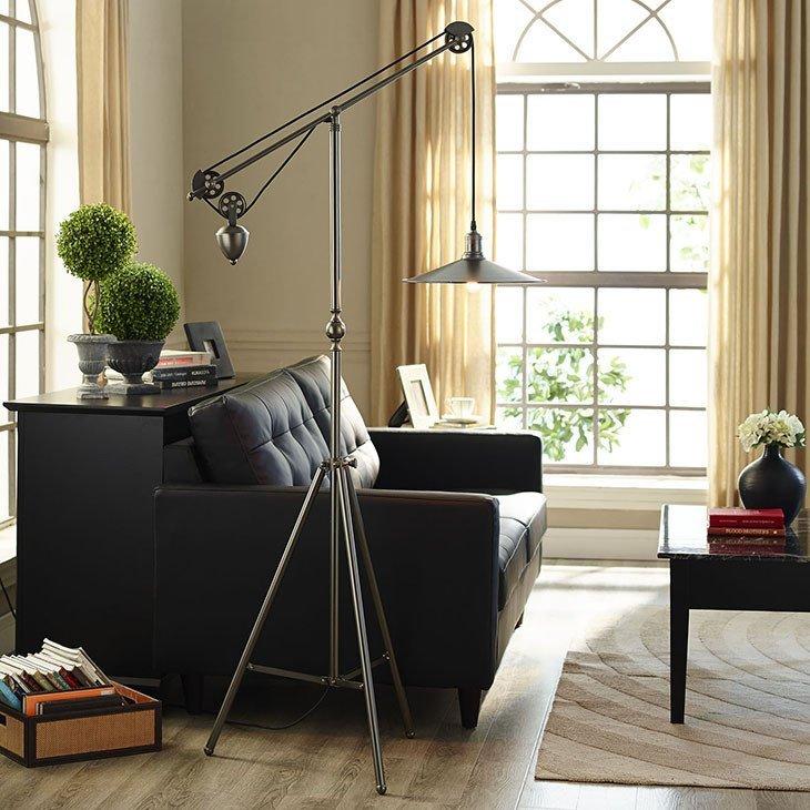 Crescent Floor Lamp