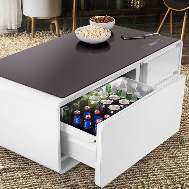 Coffee Table With Fridge Drawer: Sobro Refrigerator Coffee Table » Petagadget