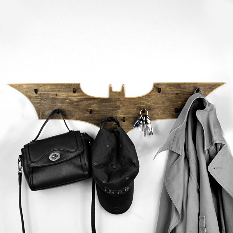 Bat Logo Wall Mounted Coat Rack