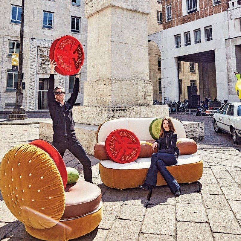 Seletti Burger Chair Hotdog Couch