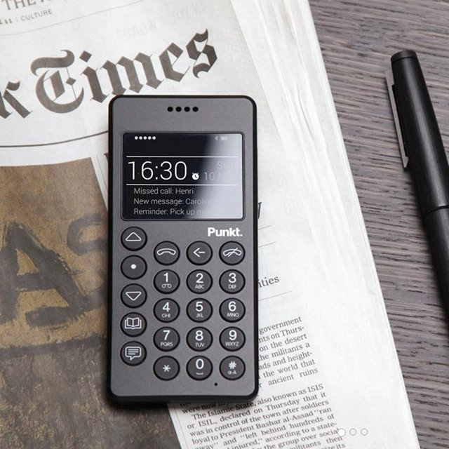 Punkt MP01 Mobile Phone in Black
