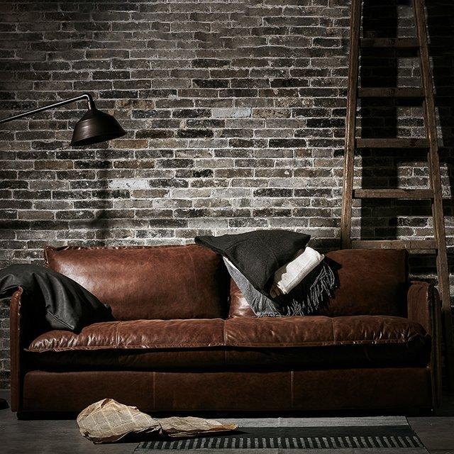 Neva Leather Sofa