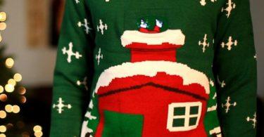 Stuck Santa Digital Knitted Christmas Sweater