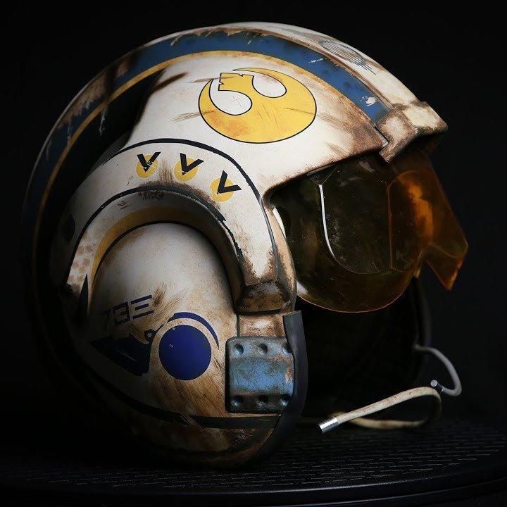 Star Wars TFA Rey Salvaged X-Wing Pilot Helmet