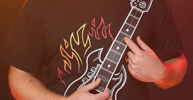 Playable Electronic Rock Guitar Shirt
